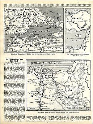 England's Lebensnerv: der Suez-Kanal & Von Konstaninopel zum Suez-Kanal c.1916