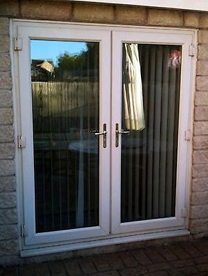 Upvc french doors 1100mm 1200mm white brown oak for Upvc french doors yorkshire