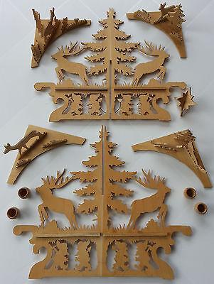 Kerzenleuchter Adventskalender Jagd Wald Wichtel Zwerge Tischband Tischdeckchen 2