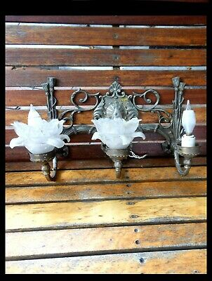 Antique Brass Wall Sconce 2