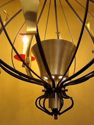 Vintage Lighting extraordinary mid-century Lightolier 4