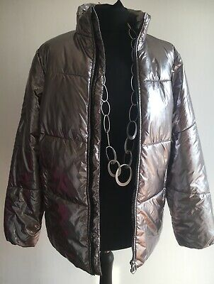 Stunning Silver Girls Lightweight Padded Jacket Very Good Condition Age 14 - 15 2