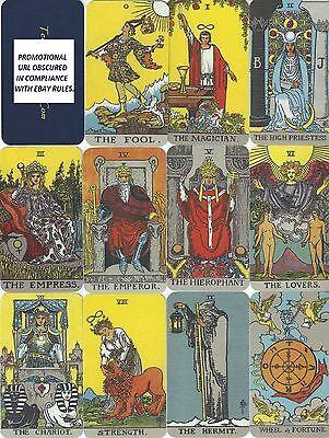 22 Contemplative Tarot Cards - cf. Waite-Smith Trumps à la Wm. Rider & Son 3