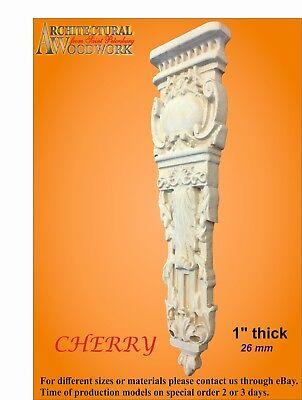 Wood carved solid Hardwood Vertical Decor 3