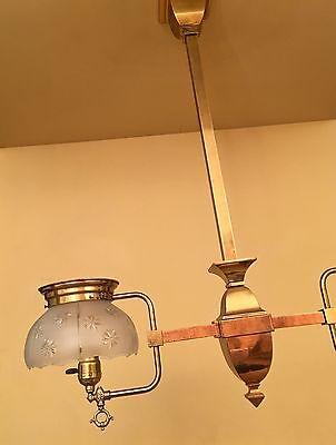 Vintage Lighting circa 1910 converted gas pendant 2