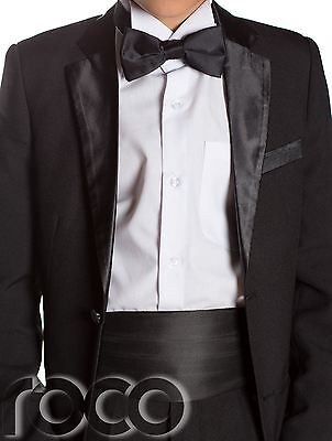 BOYS BLACK TUXEDO, Boys Dinner Suit, Prom Suits, Boys Wedding Suits ...