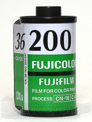 Fuji Fujicolour C200 35mm 36exp 3 Rolls Cheap Colour Print Film Exp Date 11/2021 2