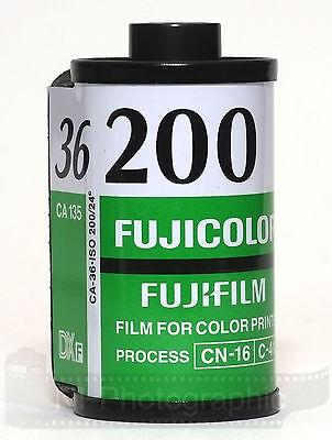 Fuji Fujicolour C200 35mm 36exp 5 Rolls Cheap Colour Print Film Exp Date 11/2021 2