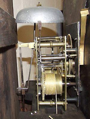 Antique Inlaid Mahogany Moon Phase Longcase Grandfather Clock FURNIVAL OLDHAM 11
