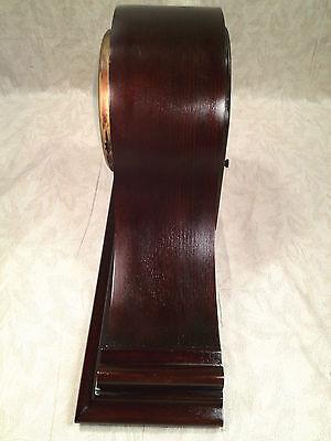 Antique Ingraham Mantel Clock Mahogany Case Runs and Strikes 9