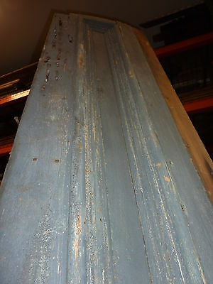 "c1860 BLUE/GRAY fascia PANELED board GREAT for project OR sign - 9'1""L x 16.5"" 2"