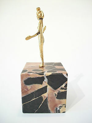 SELKET - Vintage Gilt Bronze Egyptian Goddess on Marble Base - Mid 20th Century 3