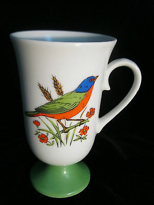Set 4 Decorative Footed Mugs With Bird Motif - Made In Japan 8