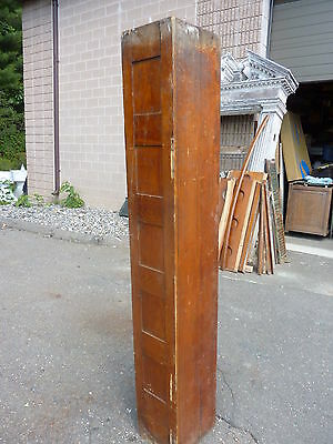 "c1900 ROLLING wooden TAMBOUR style door units 81"" long x 72"" wide w/HARDWARE 11"
