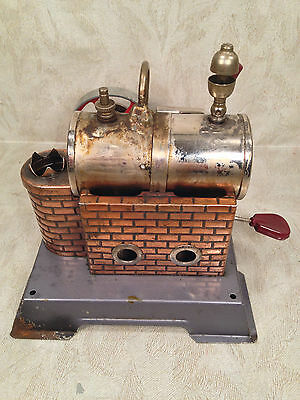 DBP Angem Steam Engine Model  Made in Germany Has Burner Tray Missing Piston Rod
