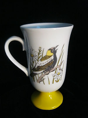 Set 4 Decorative Footed Mugs With Bird Motif - Made In Japan 7