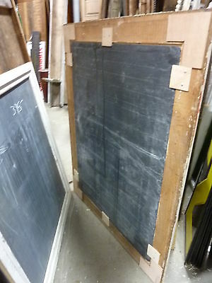 "early 20th century schoolhouse SLATE chalkboard FRAMED pine molding 57 x 45"" 6"
