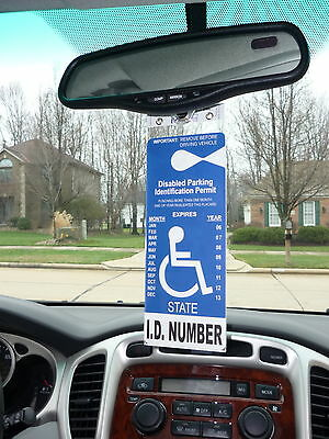 Mirortag Gold - Sturdy Handicap Parking Tag Holder & Protector. Easy On & Off 5
