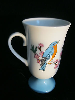 Set 4 Decorative Footed Mugs With Bird Motif - Made In Japan 9