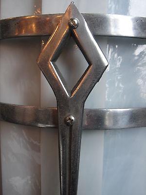 WOW! Genuine Original Art Deco Period Theater Sconce Metal/Glass Masterpiece! 3