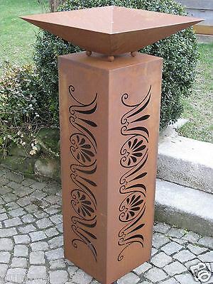 Edelrost s ule stele eisen blech gartendekoration rost patina metall deko wohnen eur 140 00 - Gartendekoration metall ...