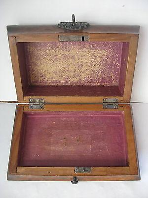 Rare Antique Civil War / Empire Period Jewelry Document Box-Gutta Percha-Burl 4