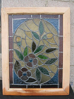 ~ Gorgeous Antique American Stained Glass Windows Floral ~ Architectural Salvage 7