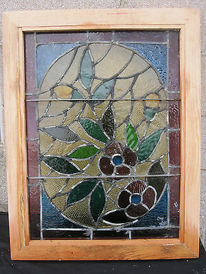 ~ Gorgeous Antique American Stained Glass Windows Floral ~ Architectural Salvage 8