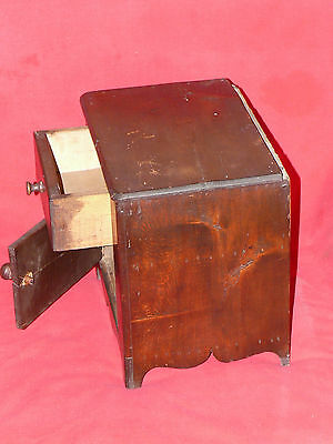 ANTIQUE 19th C. CHILD's TOY DOLL SIZED PINE WOOD WASH STAND COMMODE CABINET 4