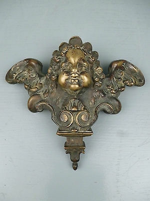 2 19th Century or Earlier Heavy Bronze Furniture Mounts Cherub Wings Angel BR 6 • CAD $1,594.69