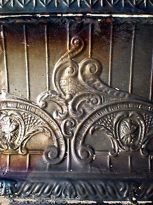 SALE Antique Victorian Ceiling Tin Tile Nouveau Pie Cupboard Chic Torch Fleur De 6
