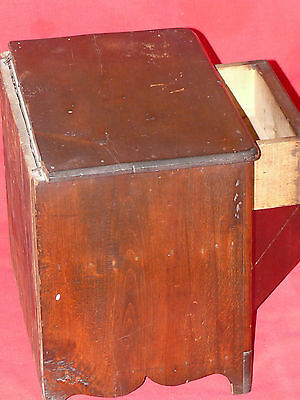 ANTIQUE 19th C. CHILD's TOY DOLL SIZED PINE WOOD WASH STAND COMMODE CABINET 5