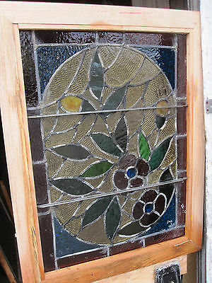 ~ Gorgeous Antique American Stained Glass Windows Floral ~ Architectural Salvage 6