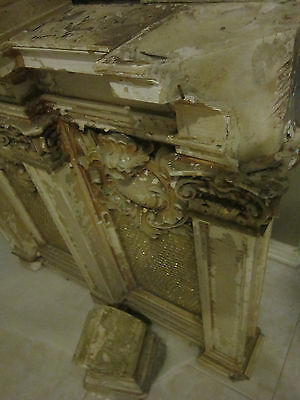 19th c Ornate Plaster Architectural Element from Philadelphia gold micromosaic 8
