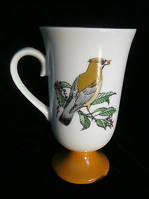 Set 4 Decorative Footed Mugs With Bird Motif - Made In Japan 2