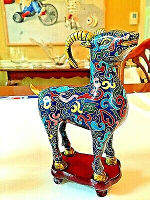 Outstanding Pair of Chinese Cloisonne Goats 11