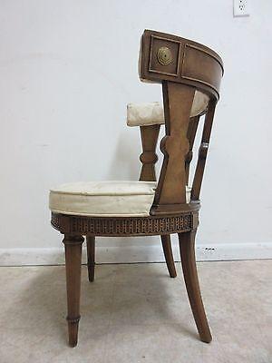 Vintage Italian Regency Fireside Side Lounge Living Room Side Chair B 8