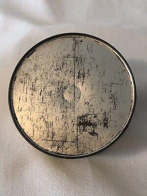 Vintage Cara Nome Powder Jar Container Metal Tin Light Yellow Round Cosmetic 5