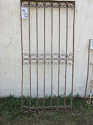 Antique Victorian Iron Gate Window Garden Fence Architectural Salvage Door #52 5