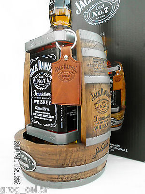 Jack Daniels 1.75L Timber Cradle 2014 Complete With Bottle/Boxed -RARE!!!!!!! 3