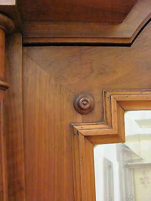 Imposing Antique French Solid Walnut Armoire - C1880 12