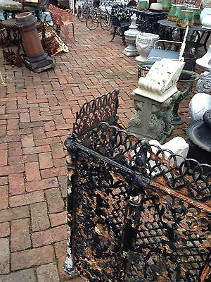 One Matched Pair Very Ornate Cast-Iron Radiator Covers Antique 8