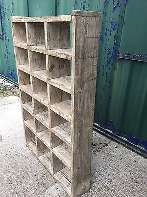 Industrial Up-Cycled Pigeon Hole Shoe Rack / Shelveing Unit. 3