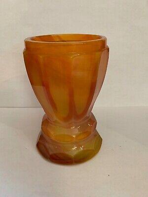 Lithyalin_Glasbecher_Böhmen_gelb/oranges marmoriertes Glas_Egerman_1830-1850 3