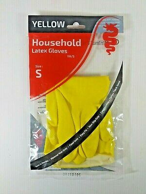120 Pairs Yellow Washing Up Gloves, Food Safe, Size 7 (Small) 2