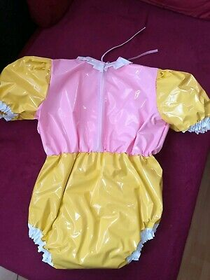 Adult Baby Body Spreizbody Windelbody DIAPER SPREIZHOSE PVC LACK HALLO KITTY XL 6