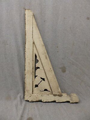 1 Antique Wood Corbel Shelf Bracket Shabby Vtg Porch Gingerbread 14x24 463-17P 3