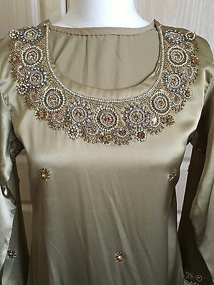 Ladies Shalwar Kameez - Gold - Size Small 2