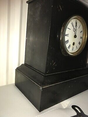 maple & co limited Paris slate marble clock 4