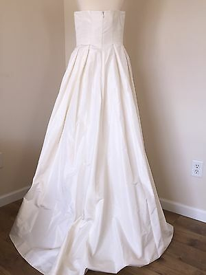 JCREW $1800 SILK Taffeta Marlie Wedding Ball Gown 6 Ivory Dress ...